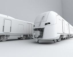 Russian train from RZD company LASTOCHKA Swallow 3D Model