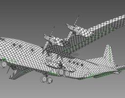 3d airplane an12 ussr