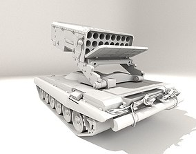 3D model TOS-1 System SUN-SHINE BURATINO RUSSIAN ARMY