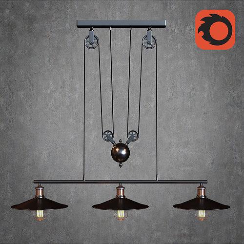 American ste&unk l& 3D model & American steampunk lamp 3D   CGTrader