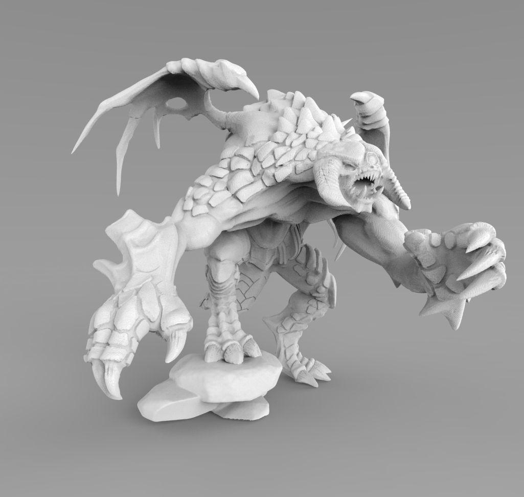 Characters Dota 2 Roshan 3D Print Model