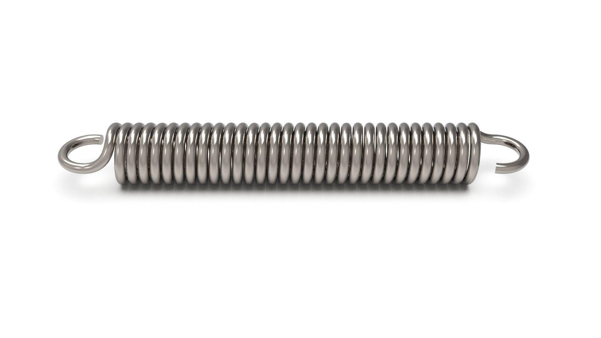 Torsion spring with hooks 2nd Method