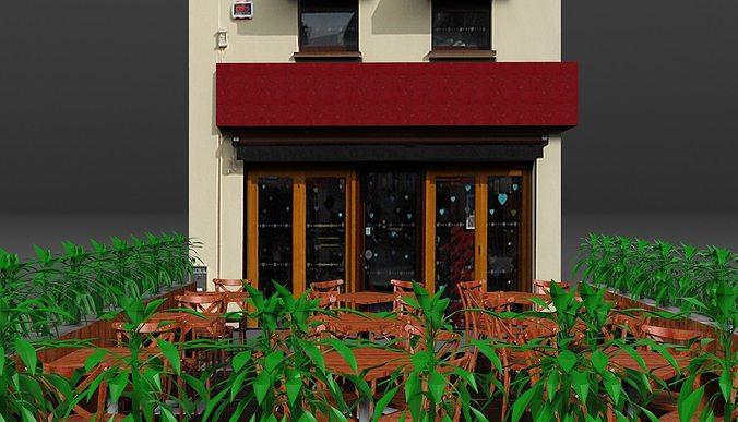 coffee shop 1 3d model obj mtl fbx sldprt sldasm slddrw 1