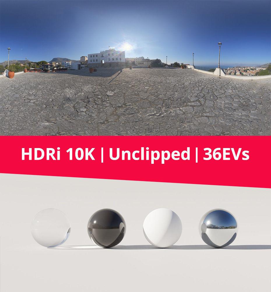 HDRi - Square Landscape and Sun