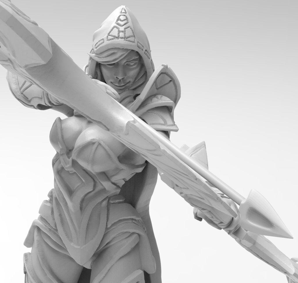 Dota 2 Drow Ranger 3D Print Model 3D Model 3D Printable