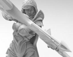 Dota 2 Drow Ranger 3D Print Model
