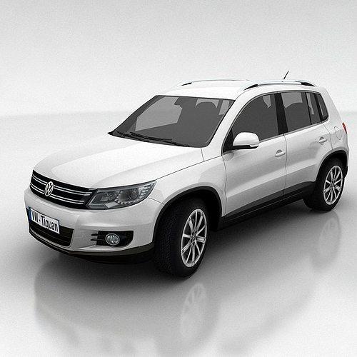 Suv Volkswagen: 3D Asset VW Tiguan