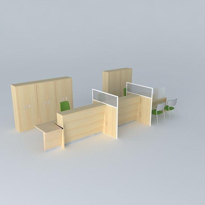 Office Furniture Free 3d Model Max Obj 3ds Fbx Stl Skp