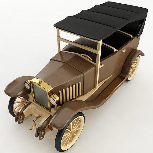 Vintage Wood Car Cgtrader