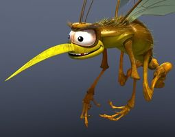 Mosquito Cartoon 3D model