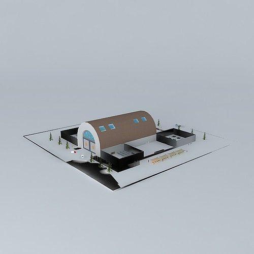 factory shade 2 3d model max obj 3ds fbx stl skp 1