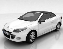 low-poly renault megane coupe cabriolet 3d asset