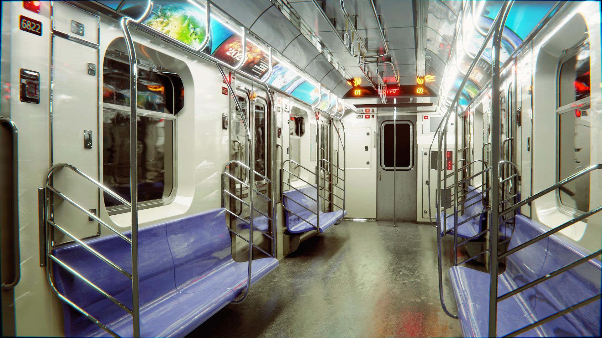 Subway Car Interior HDR