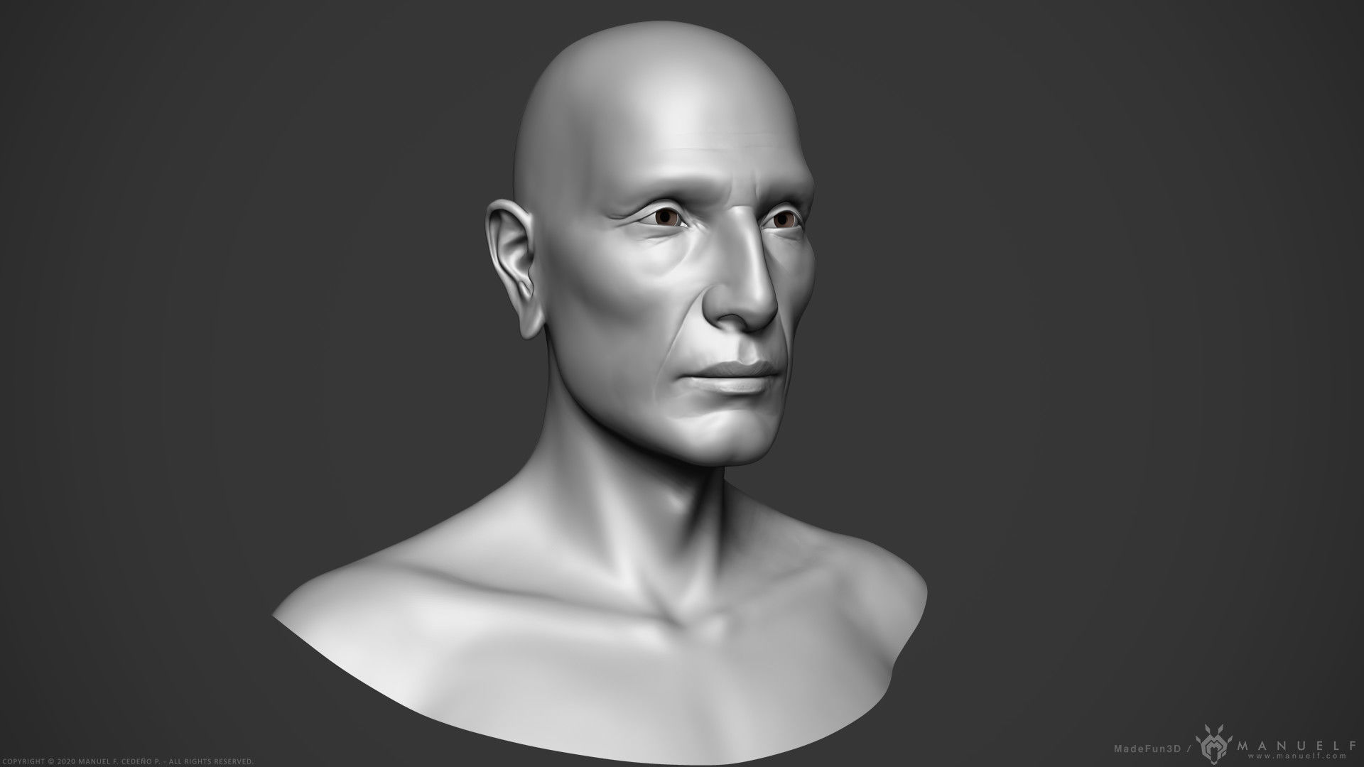 Male Native American - Character Bust