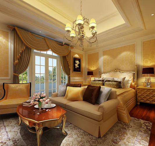 Model Luxury Home Interiors: 3D Model Luxury Bedroom