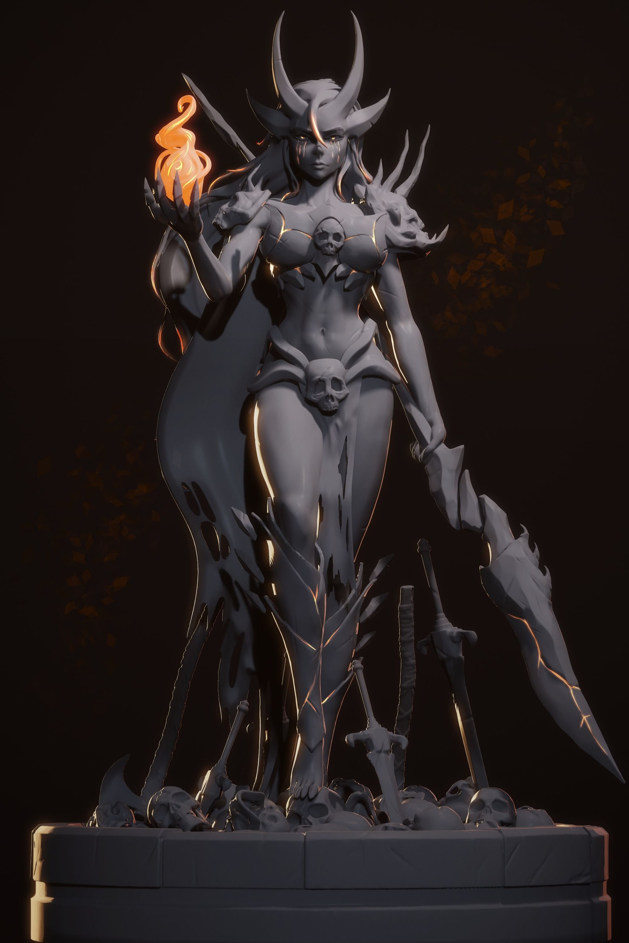3D printable armored Lady warriors   Galleries   Character