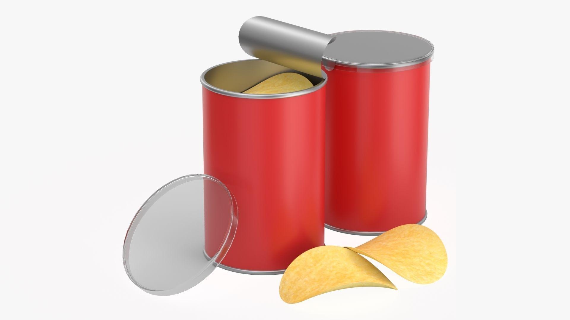 Carton tube packaging for potato chips