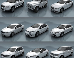 game-ready 3d asset 10 - city cars models e