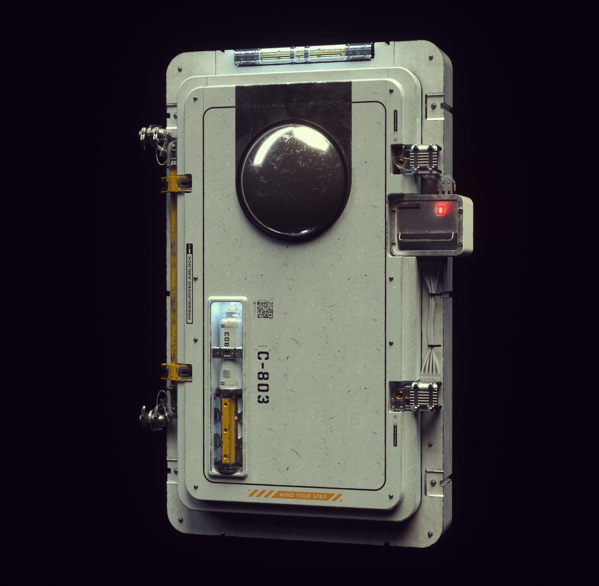 Scifi Moonbase Door