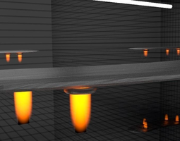Flying Table 3D asset