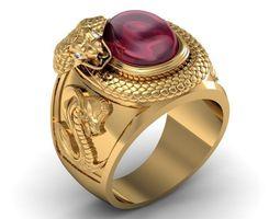 3D printable model ring ruby corba