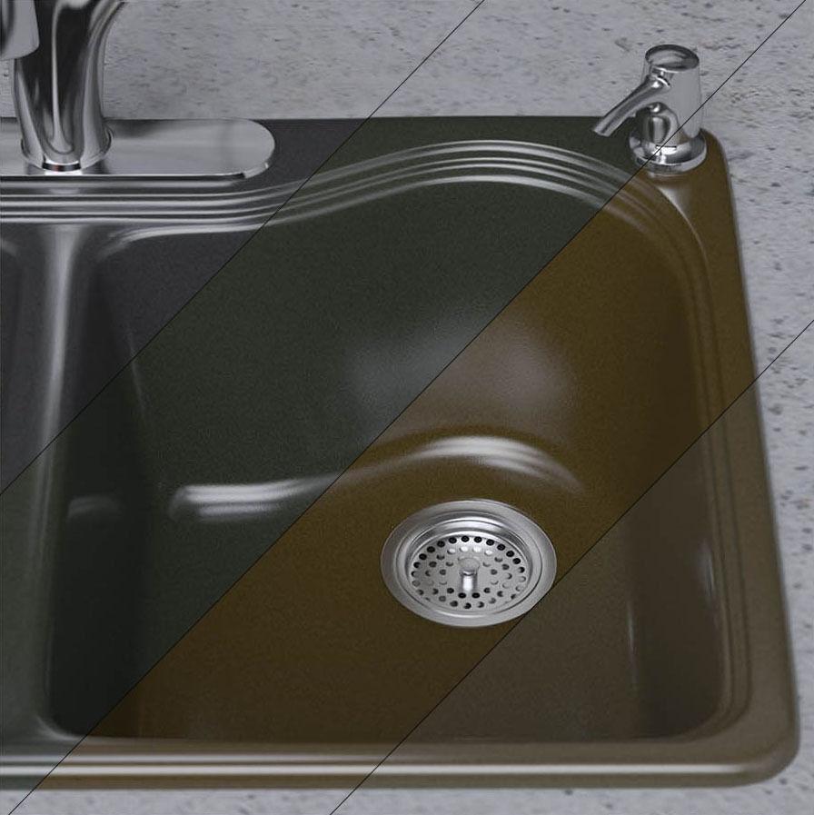 Kitchen faucet and sink KOHLER 3D | CGTrader