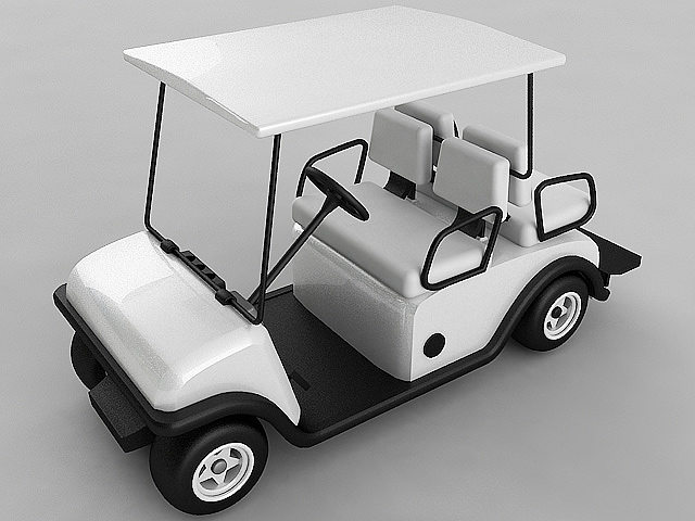 3d model golf cart vray cgtrader