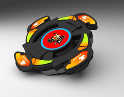 beyblade 3d model low-poly