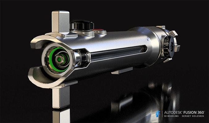ahsoka tanos lightsaber 3d model stl 1