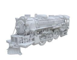 Train Engine 3D Model