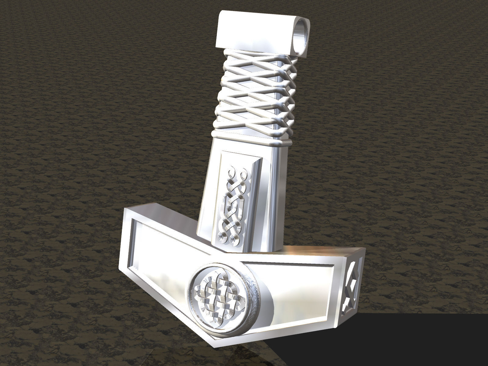 Pendant thor hammer 3d print model cgtrader pendant thor hammer 3d model obj 3ds stl 3dm 2 mozeypictures Gallery