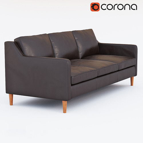 West Elm Hamilton Leather Sofa