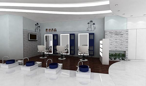 salon interior design 3D CGTrader