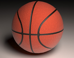 Game Basketball 3D model low-poly