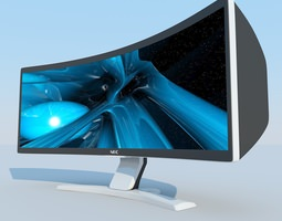 3D model NEC CRV43 LCD Display MAX 2011