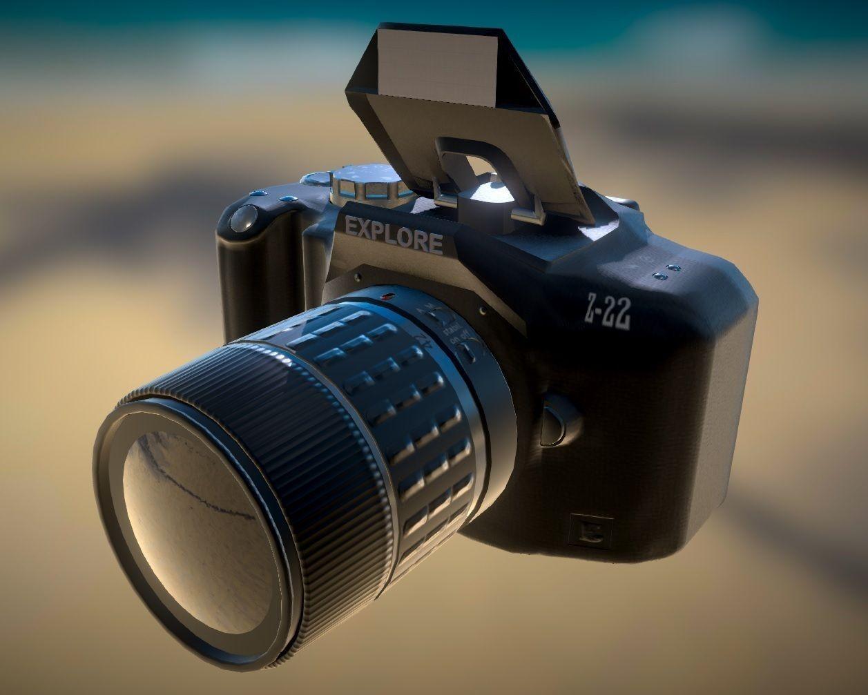 Camera 3d Dslr Camera dslr camera 3d model fbx tga cgtrader com 5