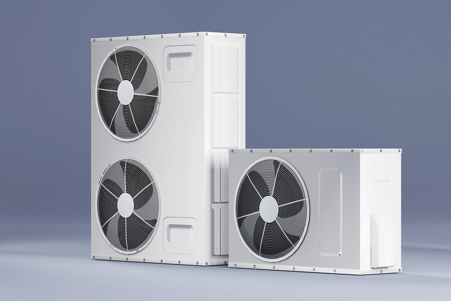 Sample Model of Split air conditioner outdoor box low poly
