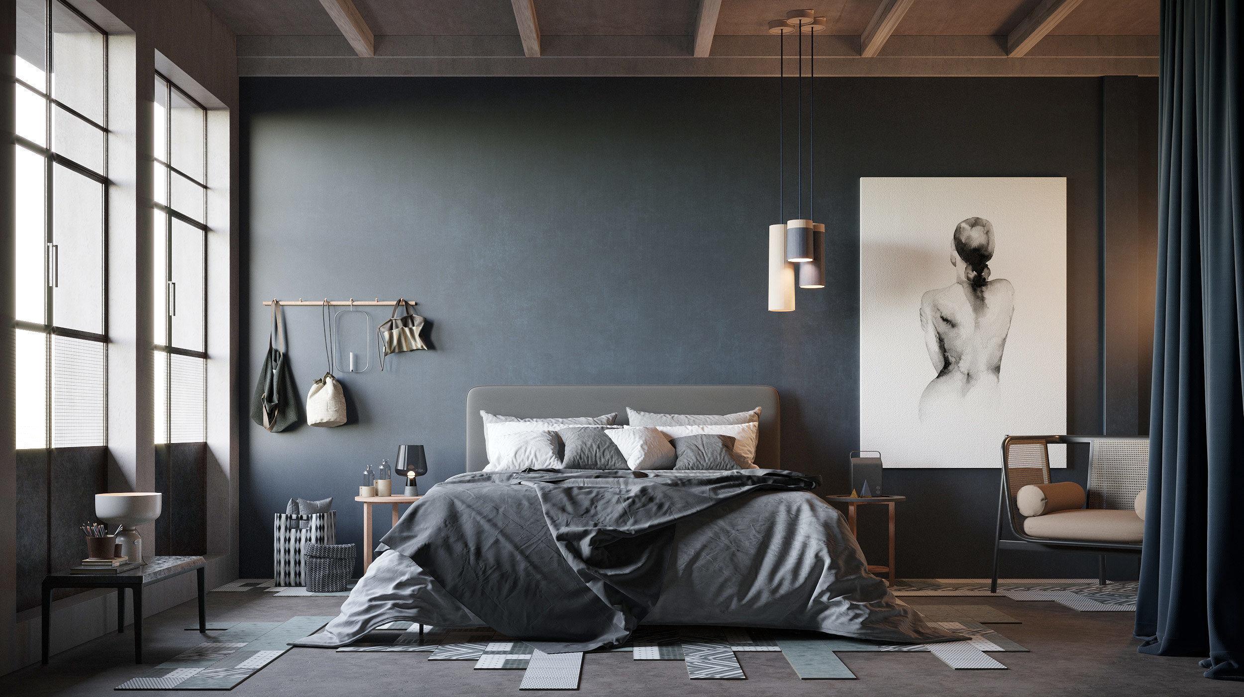 Cozy Bedroom interior scene