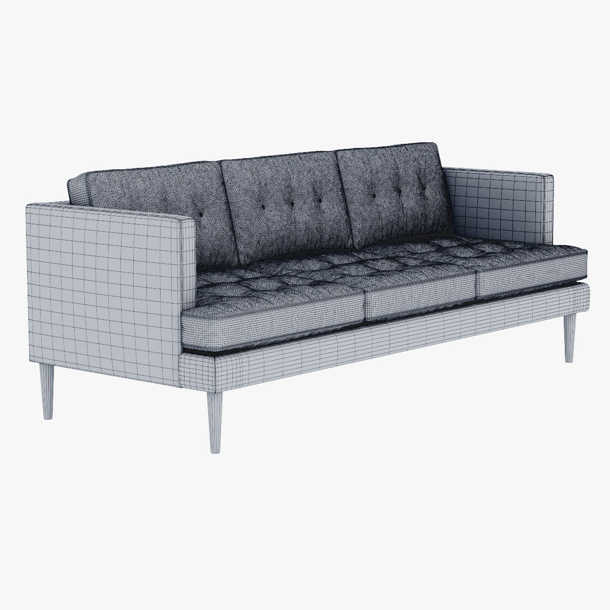 ... West Elm Peggy Mid Century Sofa 3d Model Max Obj Fbx Mtl 6 ...