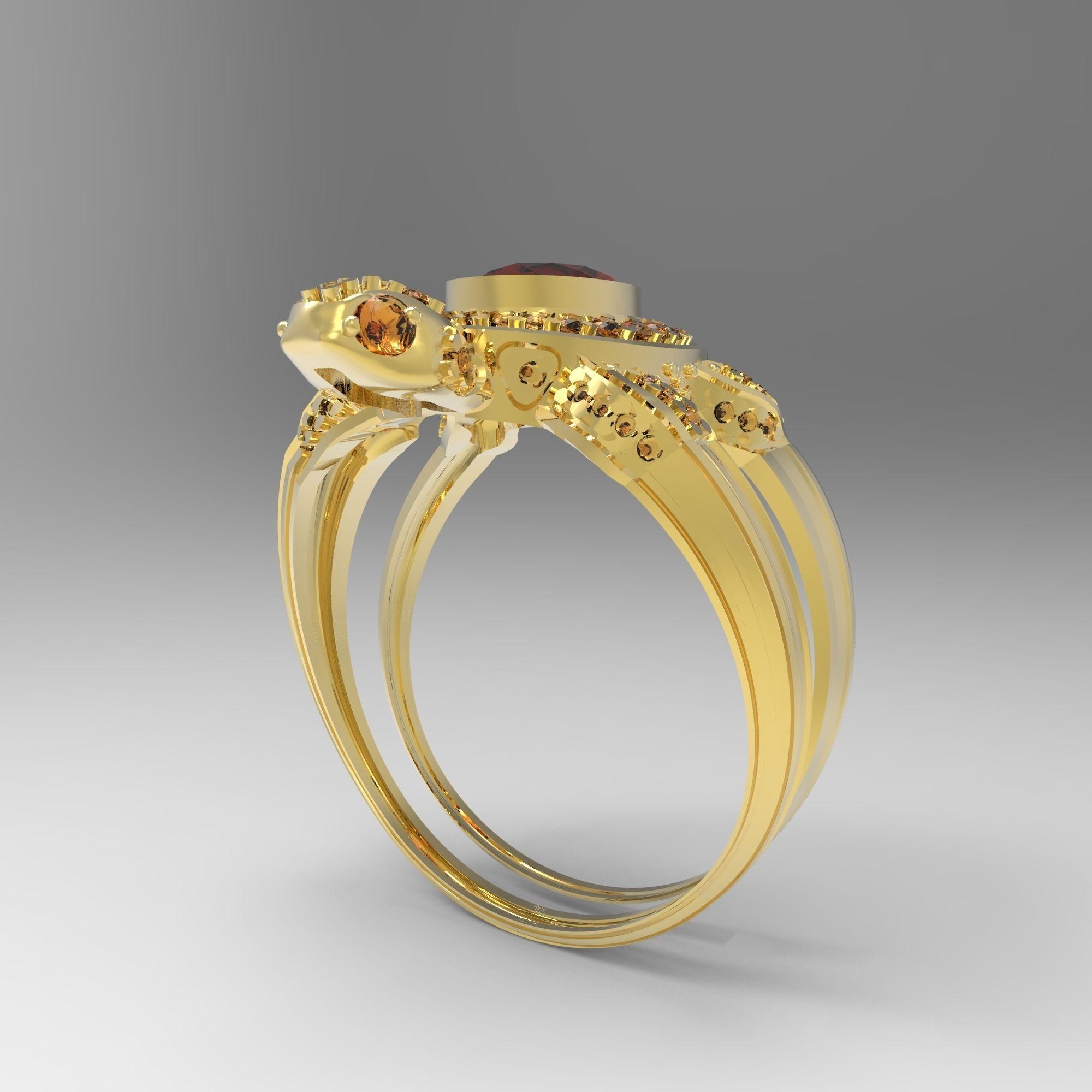 3d Print Model Turtle Ring Cgtrader