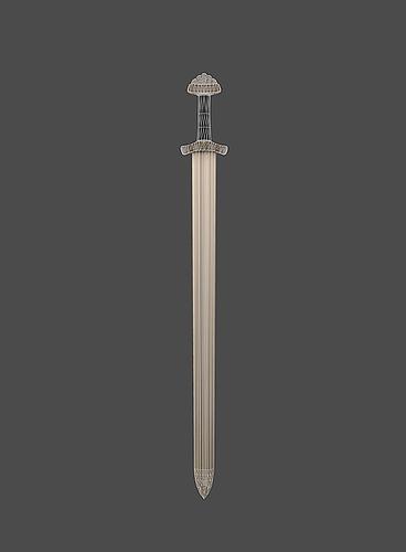 viking sword 3d model low-poly obj fbx mtl tga 1