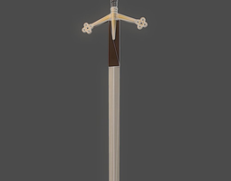 3D asset Scottish Claymore