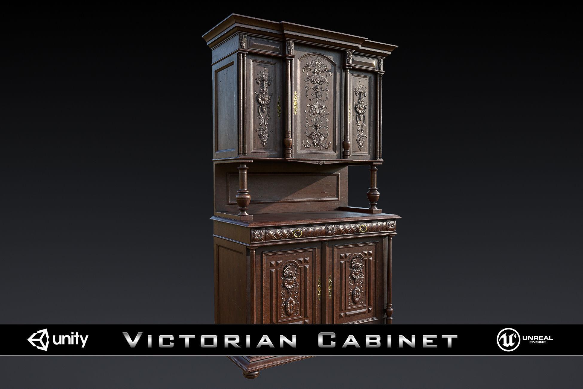 Victorian Antique Cabinet