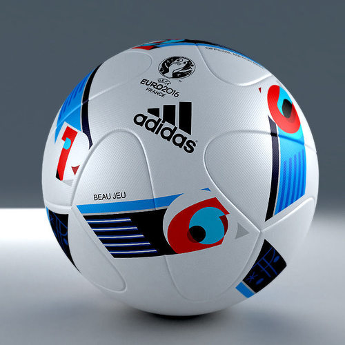3d model of official adidas beau jeu euro 2016 match ball 3d model max obj mtl 3ds 1