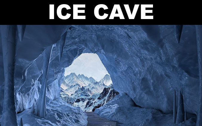 ice cave 3d model low-poly max obj mtl 3ds fbx c4d ma mb 1
