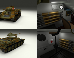 T34 76 with Interior Camo 3D model