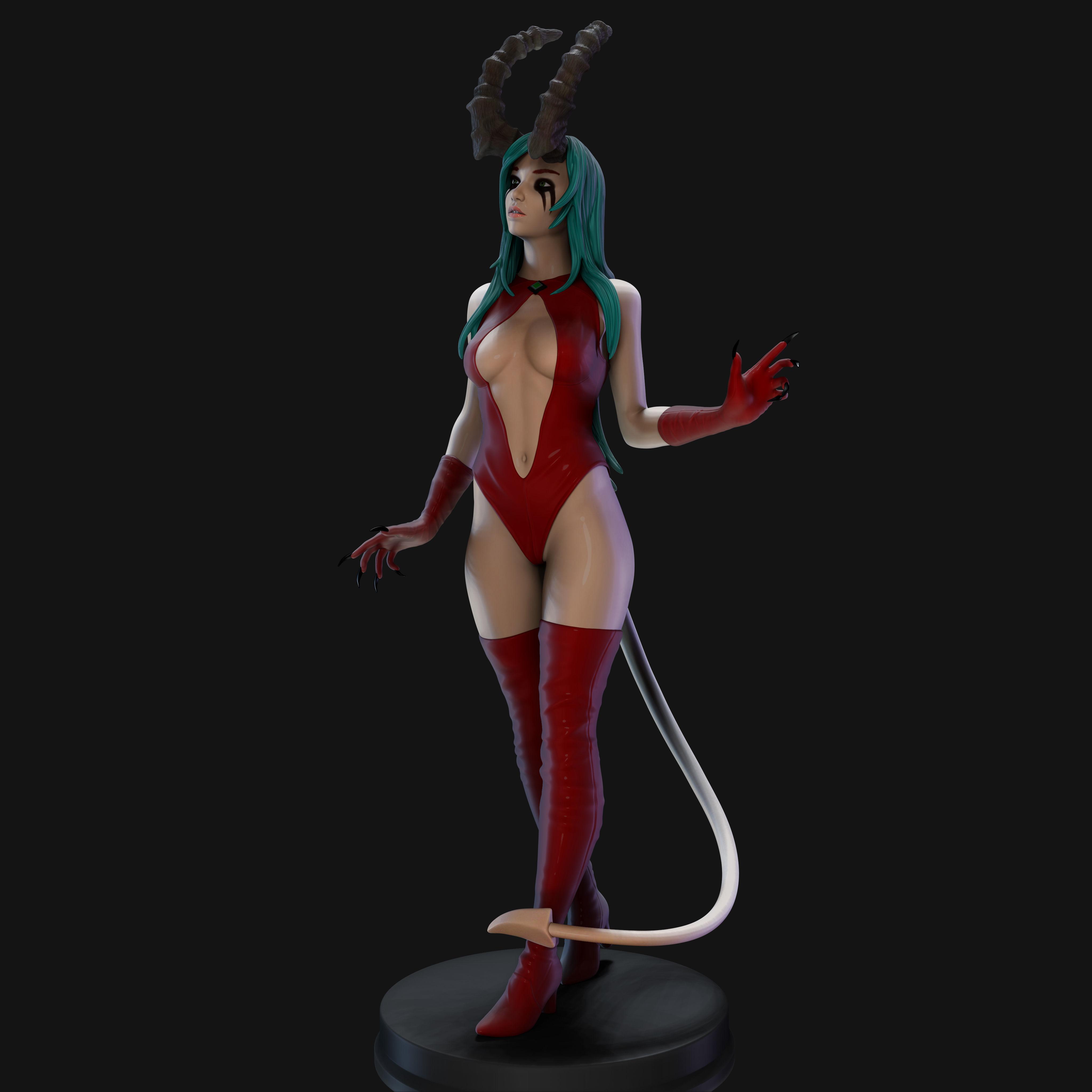 Demon Lady 3D Print Model 25cm