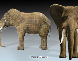 realtime elephant 3d asset