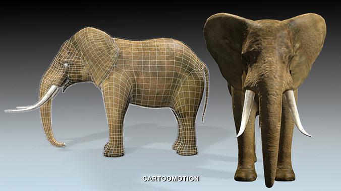 elephant 3d model max obj mtl 1