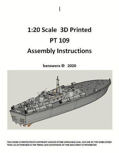 1 20 PT 109  RC Model Boat Instructions